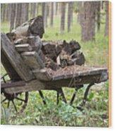 Long Winter Coming - Vintage Wheelbarrow - Casper Wyoming Wood Print