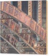 Longfellow Bridge Arches IIi Wood Print