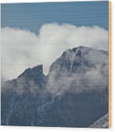 Longs Peak And Notch Wood Print by Brent Parks
