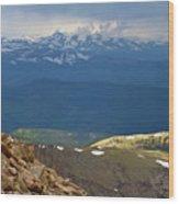 Longs Peak From Mount Evans Colorado Wood Print
