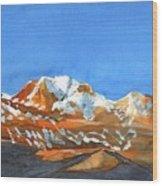 Longs Peak Wood Print