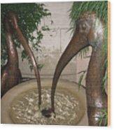 Longview Gardens Wood Print