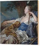 Loo, Louis-michel Van Tolon, 1707 - Paris, 1771 Diana In A Landscape 1739 Wood Print