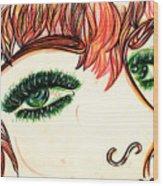 Look At Me Wood Print
