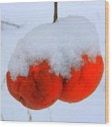 Look At Them Apples Wood Print