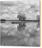 Looking Across J. C. Murphy Lake Wood Print