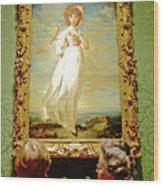 Looking At Pinkie In Huntington European Art Museum  In San Marino-california  Wood Print