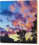 Looking At The Sunset Wood Print