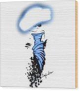 Looking Cool In Blue Wood Print