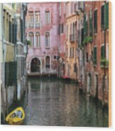 Looking Down A Venice Canal Wood Print
