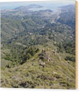 Looking Down From The Top Of Mount Tamalpais 2 Wood Print