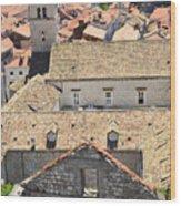 Looking Down On Old Dubrovnik Wood Print