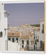Looking Down Over Antequera  From Near The Church Of Santa Maria La Mayor  Wood Print