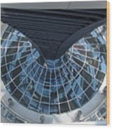 Looking Down The Reichstag Berlin Wood Print