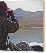 Looking For Musk Ox In Greenland Wood Print