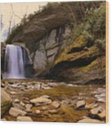 Looking Glass Falls Pisgah National Forest 2 Wood Print