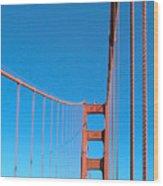 Looking The Sky Through The Bridge Wood Print