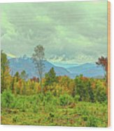Looking To The Mountains Wood Print