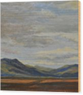 Looking Toward Taos Wood Print