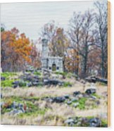 Looking Towards The Top Of Little Round Top Wood Print