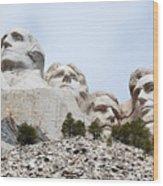Looking Up At Mount Rushmore National Monument South Dakota Wood Print