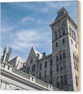 Looking Up At Old City Hall Wood Print