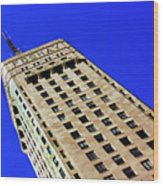 Looking Up At The Foshay Tower Wood Print