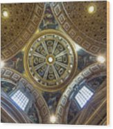 Looking Up In St Peter's Basilica Wood Print