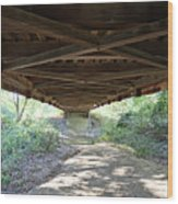 Looking Up Nevins Bridge Indiana Wood Print