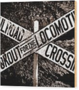 Lookout For The Locomotive Wood Print