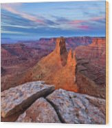 Lookout Point Sunrise Wood Print