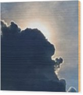 Looming Cumulus Wood Print