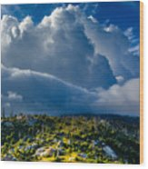 Looming Storm Clouds Wood Print