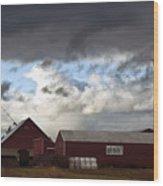 Looming Storm In Sumas Washington Wood Print
