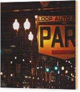 Loop Auto Park Wood Print by Jame Hayes