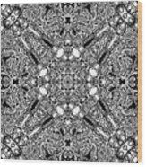 Loops Black And White No. 1 Wood Print