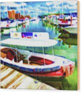 Loose Cannon Water Taxi 1 Wood Print by Lanjee Chee
