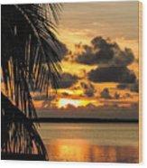 Lopez Point Sunset Wood Print