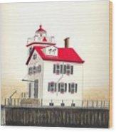 Lorain Lighthouse Wood Print