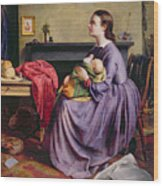 Lord - Thy Will Be Done Wood Print by Philip Hermogenes Calderon