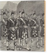 Lord Archibald Campbell And His Pipers Marching Through The Pass Of Glencoe Wood Print