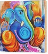 Lord Ganesh  Wood Print
