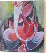 Lord Ganesha- Unique Abstraction Wood Print