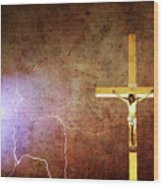 Lord Have Mercy - Crucifixion Of Jesus -2011 Wood Print