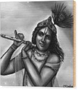 Lord Krishna Wood Print