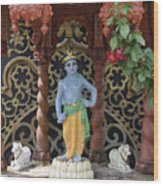 Lord Krishna Wood Print by Vijay Sharon Govender