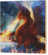 Lord Of The Celestial Dragons Wood Print by Philip Straub