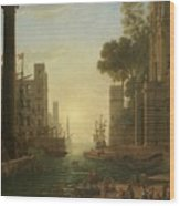 Lorena, Claudio De Chamagne, 1600 - Roma, 1682 The Embarkation Of Saint Paula Ca. 1639. Wood Print