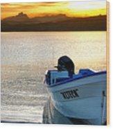 Loreto Panga At Sunset Wood Print