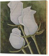 Lorettas Roses Wood Print